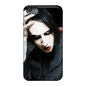 Anti-Scratch Hard Phone Case For Apple Iphone 6 Plus With Custom High-definition Marilyn Manson Series RandileeStewart