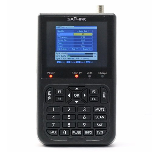 (Satlink WS-6906 3.5 - Inch Screen DVB-S FTA Digital Satellite Finder Meter)