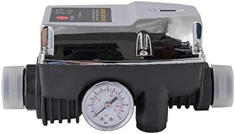 Gaetooely Contr?Leur de D/éMarrage Du Surpresseur DEau R/éGlable Contr?le de Pompe Automatique de Tuyau de 1 Pouce sur Arr/êT Commutateur de D/éBit Massique 220 V