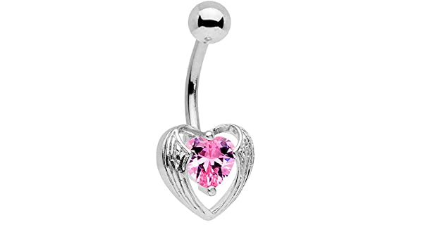 Body Candy Stainless Steel Valentines Day Hugged Heart Industrial Project Barbell 14 Gauge 38mm Helix Earring