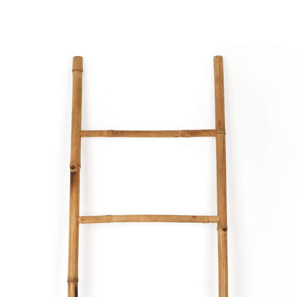 Color Natural bamb/ú 5 pelda/ños Estilo /étnico Soporte Perchero Black Velvet Studio Escalera I Love Bambu Perchero Elegante Natural Ligero 150x50x4 cm. toallero Estante para ba/ño
