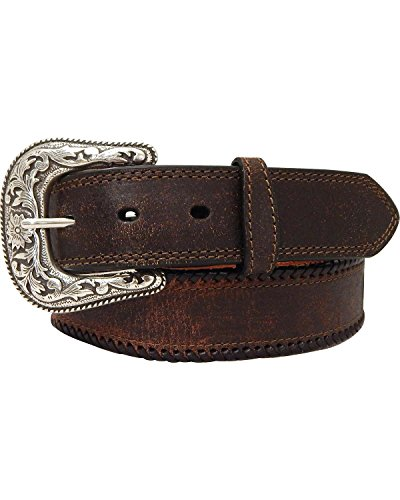 G-D Men's G Bar D Leather Belt Brown 38