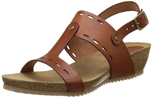 Femme Ouvert camel Kickers Tokali Marron Bout Sandales xqwnfF0I8