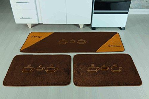 Kit de Cozinha xícara Guga Tapetes Café 3