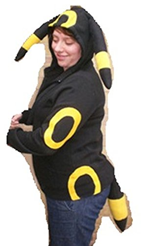 Pokemon Umbreon kigurumi hood hoodie Costume Cosplay