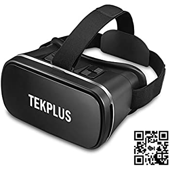 Amazon.com: VR Headset, TEKPLUS Virtual Reality Headset 3D VR Goggles Glasses for 3D Movies Video and Games for 4.0-6.0 Inches IOS Apple iPhone and Android Smart Phones: MP3 Players & Accessories