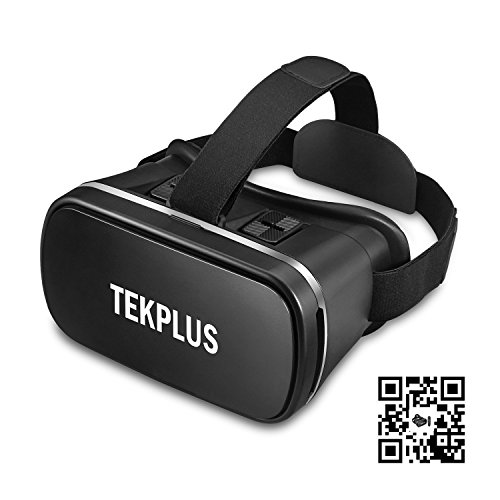 VR Headset, TEKPLUS Virtual Reality Headset 3D VR Goggles Glasses for 3D Movies Video and Games for 4.0-6.0 Inches IOS Apple iPhone and Android Smart Phones by Tekplus