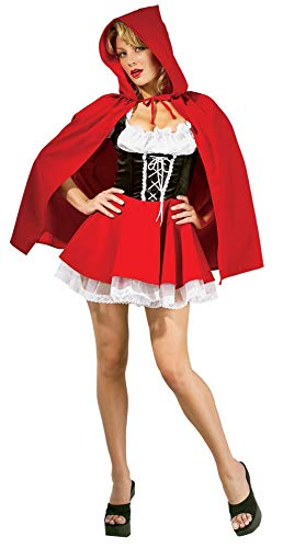 Secret Wishes Sexy Red Riding Hood Costume, Red, Small -