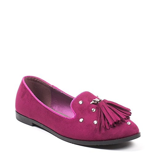 Ideal Shoes, Damen Slipper & Mokassins Fuchsia