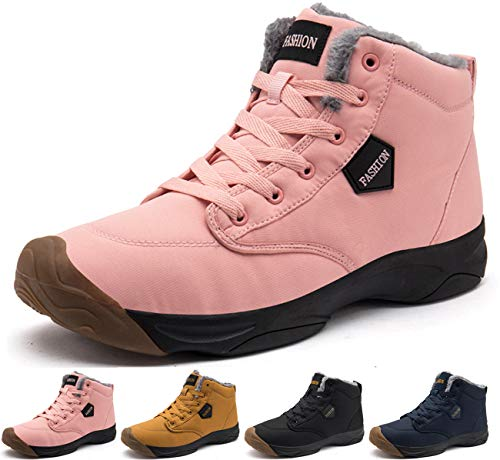 EVIICC スノーブーツ メンズ 冬用 スニーカー ブーツ 裏起毛 防寒靴 ボア ムートンブーツ ショートブーツ ハイカット レスアップ カジュアル シューズ 歩きやすい 靴 防寒 防滑