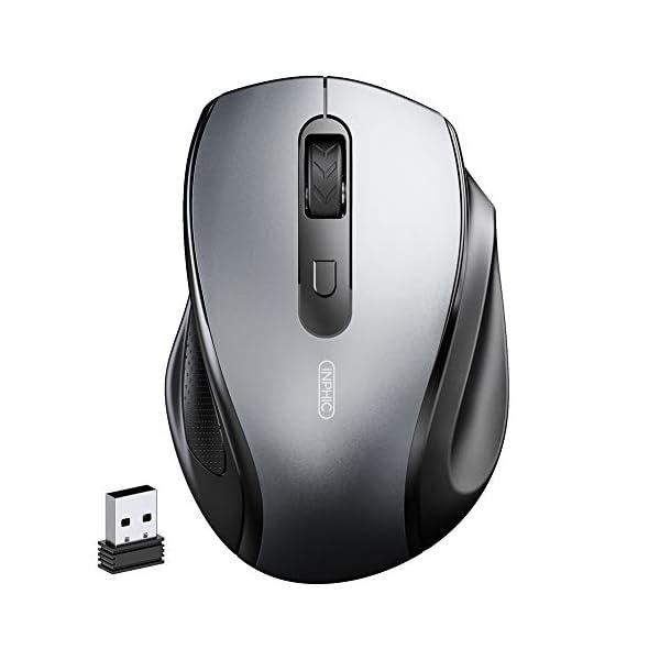 inphic Souris sans Fil, Souris D'ordinateur sans Fil Ergonomique et Silencieuse 2.4G avec Récepteur USB 800/1200/1600…