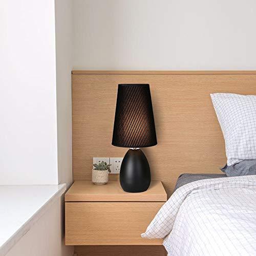 JINSH JINSH JINSH Home Tischlampe Schlafzimmer Bett dimmbare LED Fernbedienung warmes Licht nordischen Stil Touch warm romantische Lampe (Farbe   Weiß, Größe   D) B07KFV89DY   Züchtungen Eingeführt Werden Eine Nach Der Anderen  b010f1