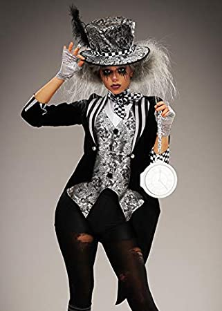 Magic Box Disfraz de Sombrerero Loco gótico Negro para Mujer de ...