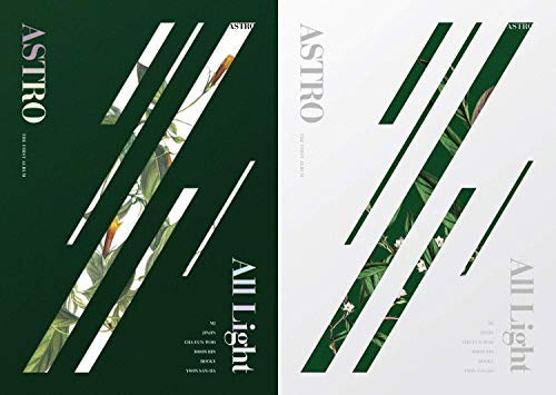 Astro 1ST Album [All Light] (White+Green ver. Set) - Pack of CD, Photobook, Photocard, Folded Poster with Pre Order Benefit, Extra Decorative Sticker Set, Photocard