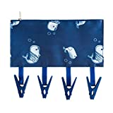 Show TINE ON Foldable Clip and Drip Adjustable Hanger Travel Portable Anti Skid Clothespin Multi-Functional Telescopic Dryer Drying Rack Closet for Bathroom (A)