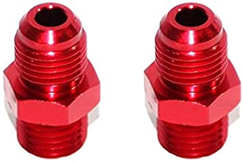 6AN AN-6 TO 1//2NPT Male Thread Aluminum Anodized Fitting Adapter BLUE