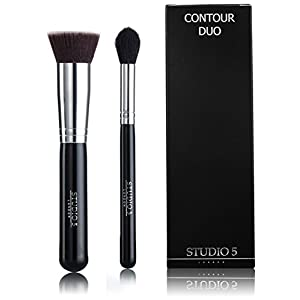 Pro Tapered Highlighter Brush and Flat Top Kabuki by Studio 5 Cosmetics