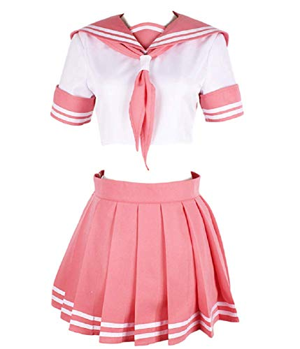 GK-O Fate Apocrypha FGO Astolfo Cosplay Costume Pink Sailor Suit JK Uniform