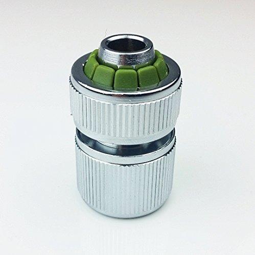 Kupplungteil mit Schlauchverschraubung(1,3 oder 6 Stück), verchromtes Messing, hochwertige Verarbeitung, zum Aufklicken auf einen Steckverbinder / Steckteil (6)