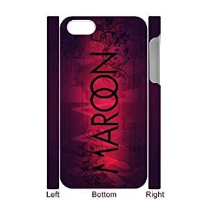 C-EUR Diy hard Case Maroon 5 customized 3D case For Iphone 4/4s