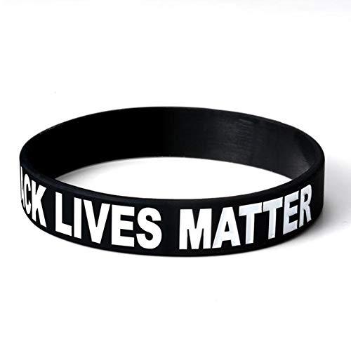 Chef Vinny Black Lives Matter I Can`t Breathe Silicone Wristband Bracelet Set of 1(Black)