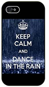 iPhone 5 / 5s Keep calm and dance in the rain - black plastic case / Keep calm, funny, quotes