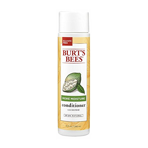 Burt's Bees More Moisture Baobab Conditioner, Sulfate-Free Conditioner - 10 Ounce Bottle