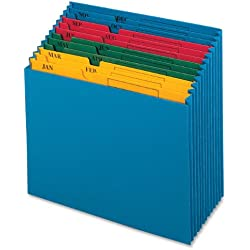 Globe-Weis/Pendaflex QuickVue Project File, Monthly Index, Letter Size, Blue (20135)