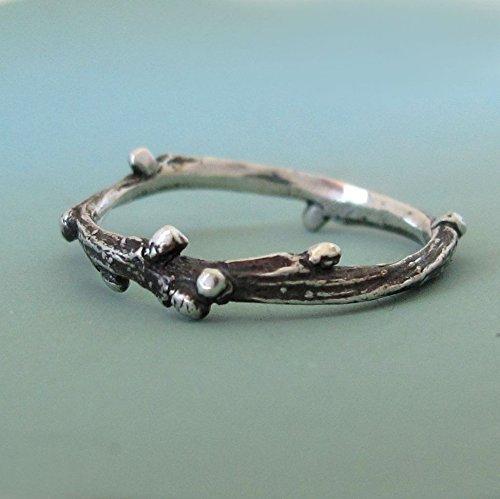 Sterling Silver Twig Ring - Live Oak