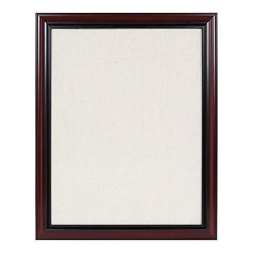 Whiteboard Frame Mahogany - Kate and Laurel Dandridge Framed Linen Fabric Pinboard, 24x30 Cherry