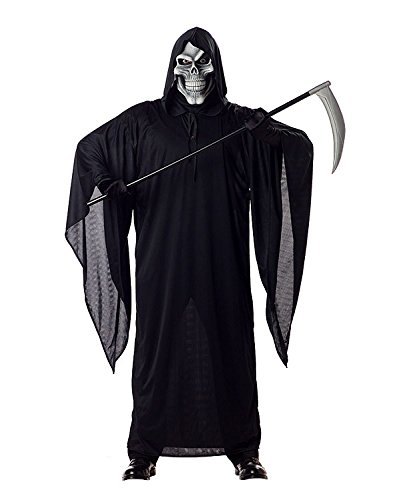 (California Costumes Men's Grim Reaper Costume, Black,)
