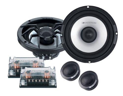 "New Pair Soundstream SC-6T Arachnid Series 6-1/2"" 320 Watts MAX Per Set (160 Watts Each Side) Component Speaker System Set with Crossovers and Tweeters"