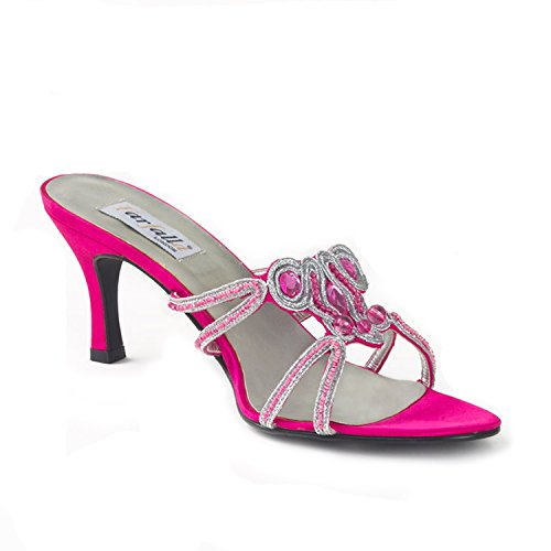 Beaded FARFALLA Satin Fuchsia Sandals FARFALLA Satin wtqR0z
