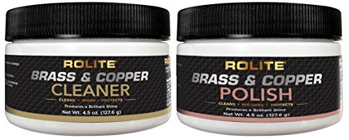Brass & Copper Cleaner & Brass & Copper Polish (4.5oz) for The Ultimate Clean & Shine on All Metal Surfaces Combo Pack