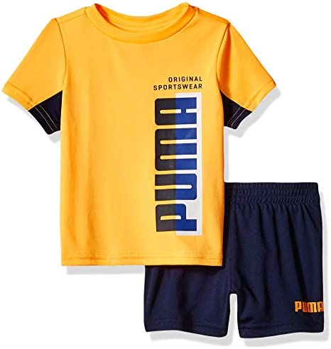 PUMA Baby-Boys Boys T-Shirt /& Short Set Shorts Set