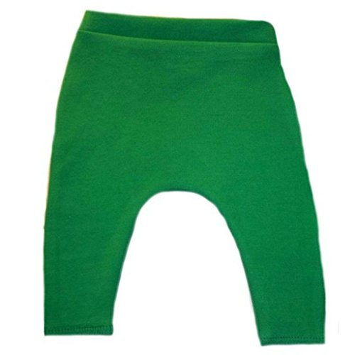 Jacqui's Unisex Baby Cotton Knit Pants with Elastic Waist - Lots of Colors, 6-12 Months, Kelly -