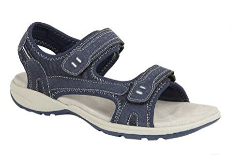 Navy Boulevard Fastening Twin Sports Sandal Ladies Touch qq6UAp