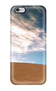 For Iphone 6 Plus Tpu Phone Case Cover(desolate Tract Sand Dune Blue Clouds Nature Other)