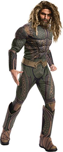 Adult Authentic Batgirl Costumes (Rubie's Costume Co. Men's Aquaman Adult Deluxe Costume, As Shown, Standard)