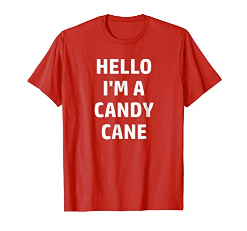 Lazy Halloween Costume, 'Hello I'm a Candy Cane'