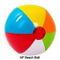 "Toy Plastic 14"" Inflatable Beach Rainbow Ball"