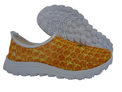 For U Design Stilige Lette Praktiske Mesh Sneaker Joggesko For Kvinner Gul C