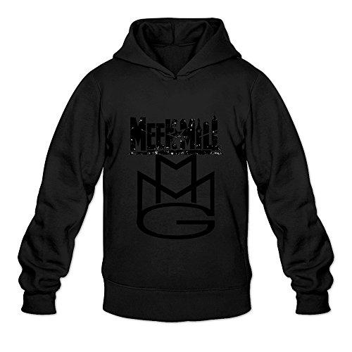 TWSY Men's Meek Mill Long Sleeve Hoodies Sweater Size L Black,100% Cotton (Gruesome Halloween Ideas)