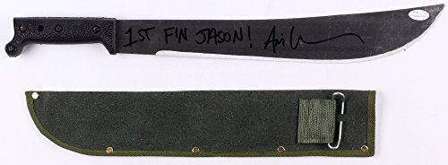 "Ari Lehman Signed Jason""Friday the 13th"" Genuine 21"" Steel Machete Inscribed""1st F'n Jason!"" (JSA COA) JSA..."