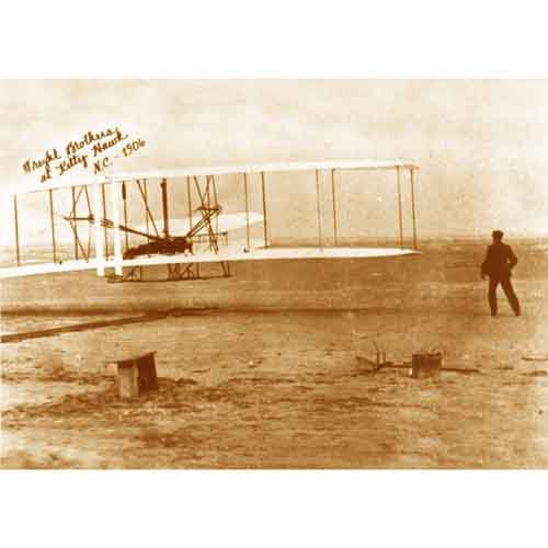 Quality digital print of a vintage photograph - Wright Brothers at Kitty Hawk 1906. Sepia Tone8x10 inches - Matte Finish