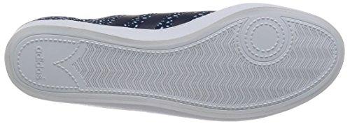 adidas Vs Qt Vulc W, Zapatillas de Deporte para Mujer Negro / Blanco (Maruni / Maruni / Ftwbla)