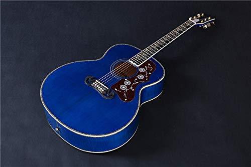 FidgetGear J 200 Jumbo Blue Flame Solid Spruce Acoustic/Electric Guitar By Artisan ()