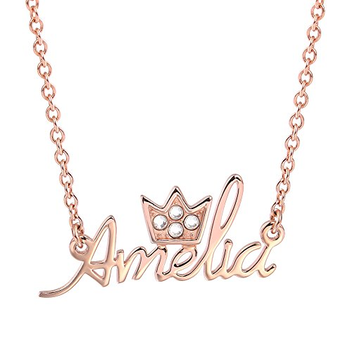 SOUFEEL Customized Necklace Custom Name Necklace Rose Gold P