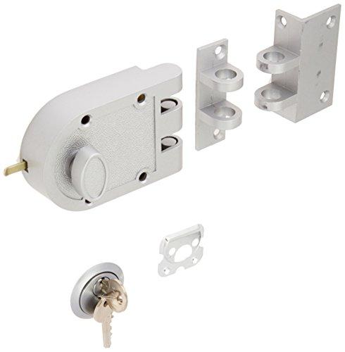 Guard Security Heavy Duty Jimmy Proof Deadbolt Door Lock, Silver, Single Cylinder with Key Entry - Door Heavy Locks Duty