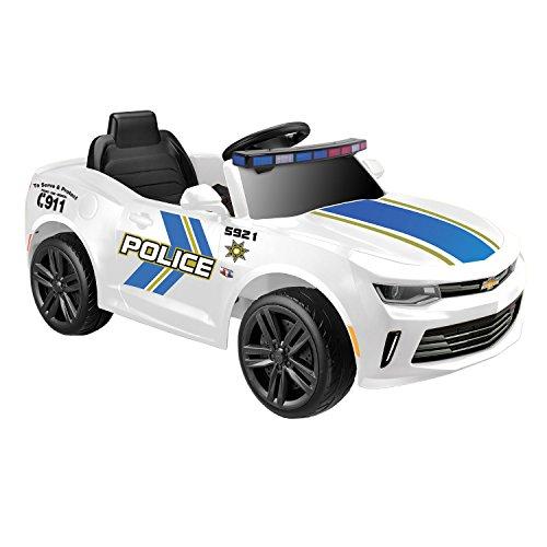 (Kid Motorz Chevrolet Racing Camaro Police Edition One Seater in White ( 6V ))